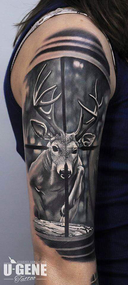 89 best hunting tattoos of all time good game hunting. Black Bedroom Furniture Sets. Home Design Ideas