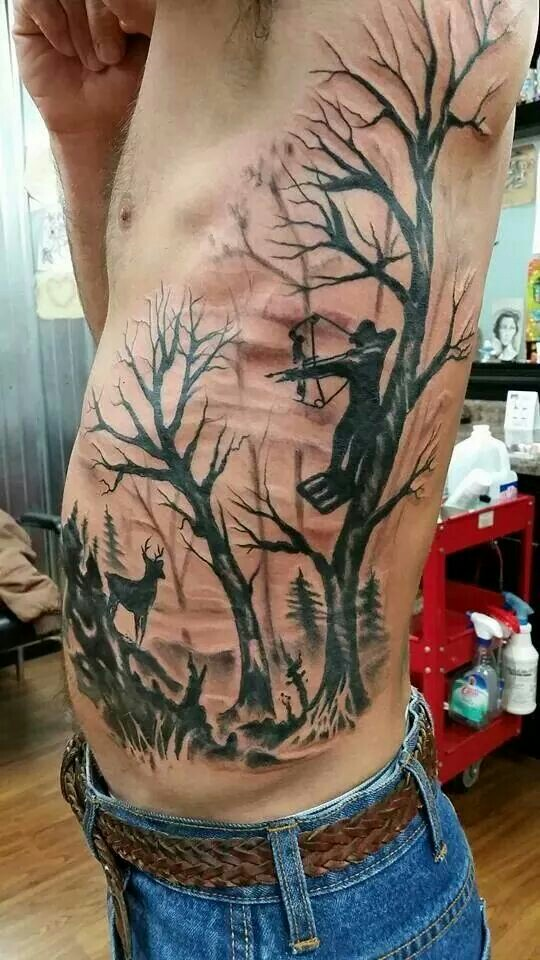 20 Great Hunting Tattoos - TattooMeNow - Tattoo Gallery ...