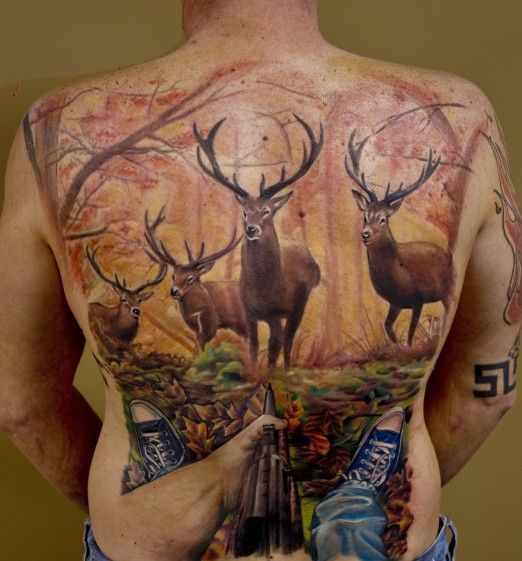 89 best hunting tattoos of all time good game hunting for Buck commander tattoo