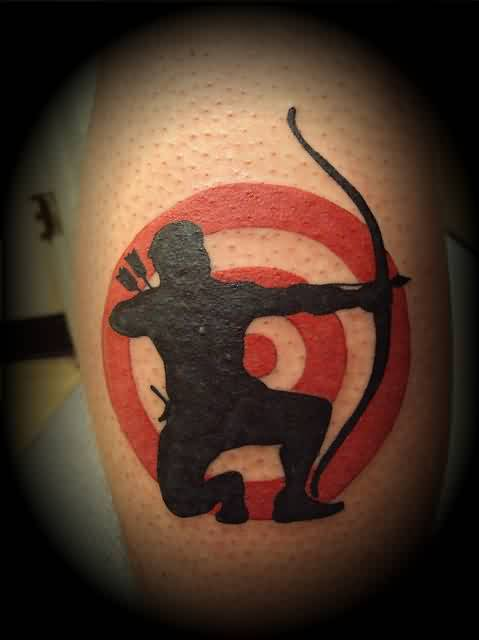 target and archery tattoo