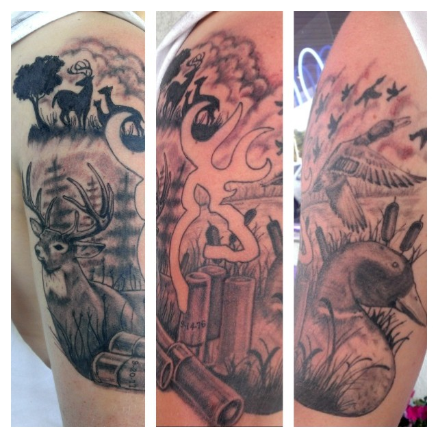 cool hunting tattoos