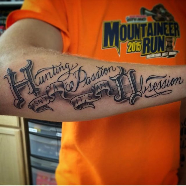 hunting is an obsession tattoo