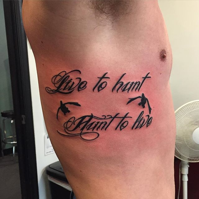 live to hunt hunt to live tattoo