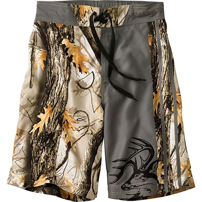 camo swim trunks