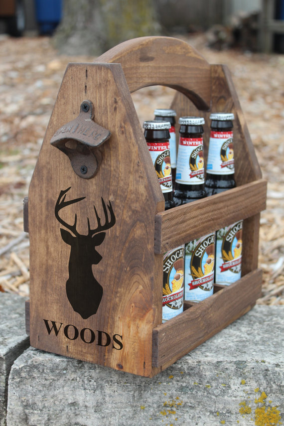 custom hunting beer carrier present